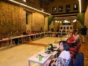 Η επιβλητική αίθουσα όπου διεξήχθησαν οι εργασίες της Γ.Σ..Πρώτη δεξιά η Αντιπρόεδρος του ΣΠΑΥ Κα Αντωνίου
