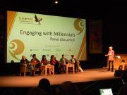 Το πάνελ των ομιλητών με τους (από αριστερά): Richard Louv, Hendrikus van Hensbergen, Anna Fleming, Mairi Gougeon, Ignace Schops, Rachel Coyle and Muriel Grey.