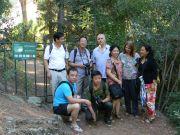 Η αντιπροσωπεία του Βοτανικού Κήπου της πόλης Xi'an της Κίνας με τους εκπροσώπους της Φιλοδασικής