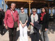Η εκπρόσωπος του Βοτανικoύ Κήπου τηςΦιλοδασικής Κα Σ.Πηλαβάκη και ο κ. Ν.Πάγκας με τις εκπροσώπους της Botanical Garden Conservation International
